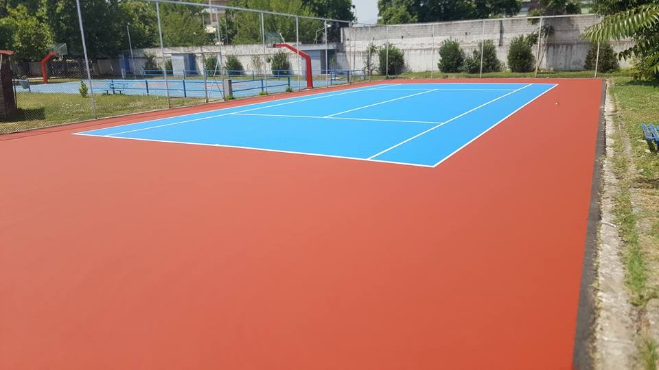 ONE MORE COURT MADE OF DURALAC COATINGS